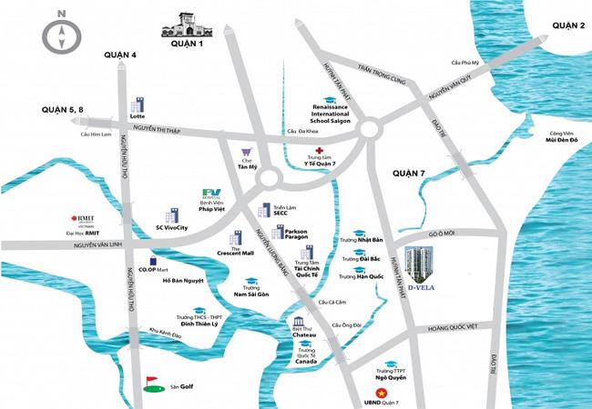 Bản đồ vị trí dự án D - Vela quận 7