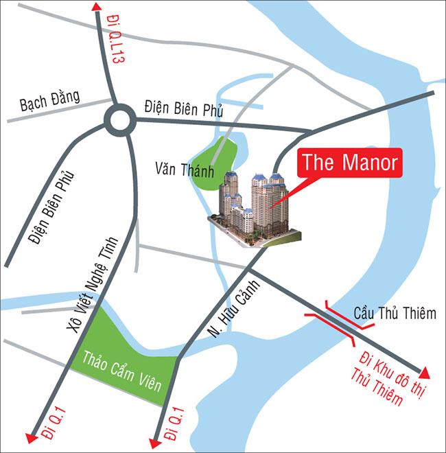 Vị trí dự án căn hộ The Manor Bình Thạnh