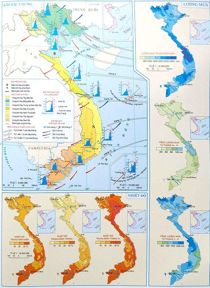 Bản đồ khí hậu Việt Nam