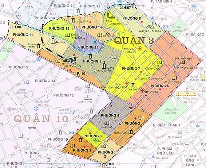 Bản đồ Quận 3 Thành phố Hồ Chí Minh