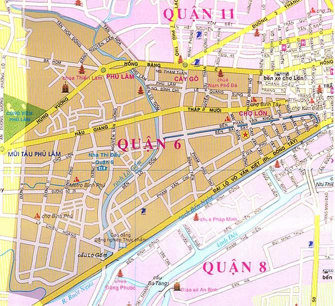 Bản đồ quận 6 thành phố hồ chí minh