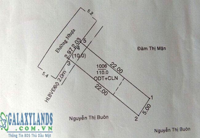 Bán đất Phú Hòa hẻm cây xăng số 6