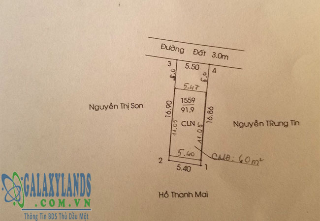 Bán đất Tân An DX143