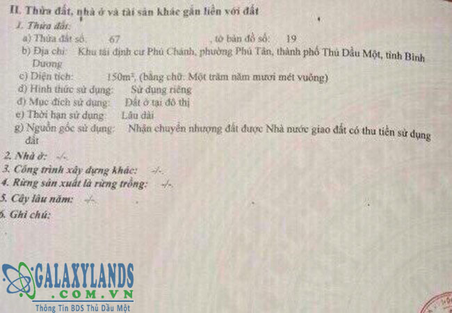 Bán đất Phú Chánh C phường Phú Tân.