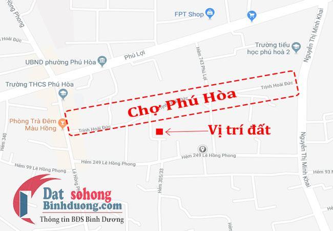 Bán đất gần chợ Phú Hòa Thủ Dầu Một