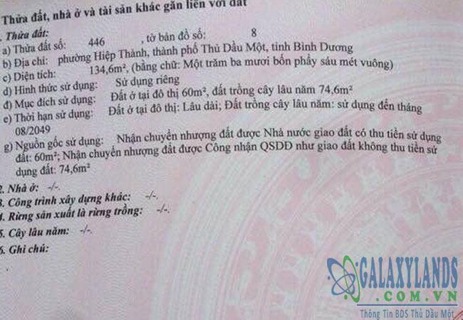 Bán đất phường Hiệp Thành đường Nguyễn Đức Thuận.