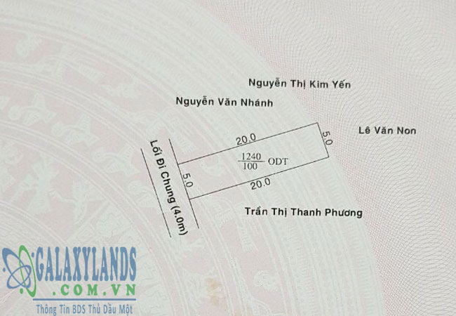 Bán đất phường Phú Mỹ Bình Dương.