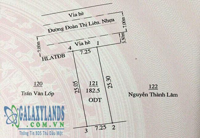 Bán đất đường Đoàn Thị Liên phường Phú Lợi Thủ Dầu Một Bình Dương
