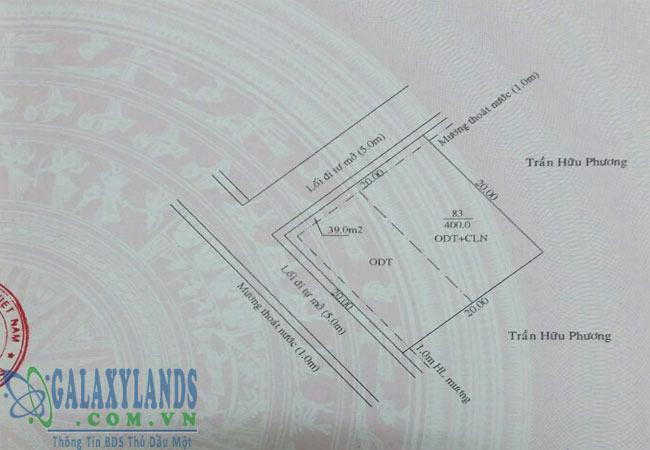 Bán đất phường Hiệp Thành Bình Dương