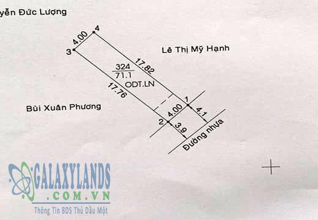 Bán đất đường Lê Thị Trung phường Phú Lợi
