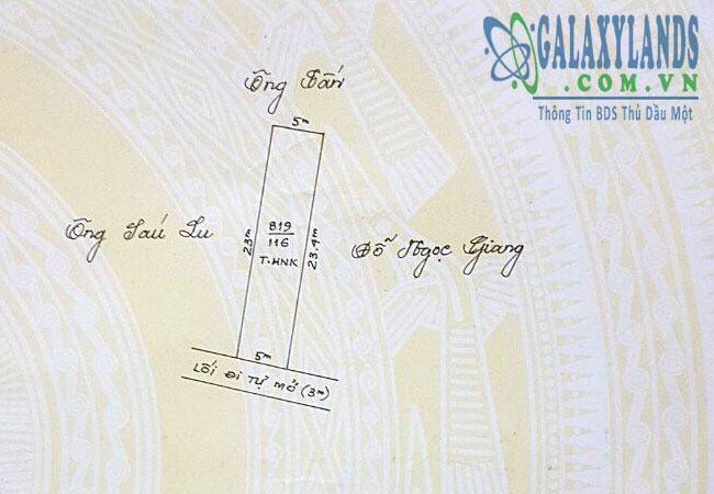 Bán đất đường DX01 phường Phú Mỹ Thủ Dầu Một Bình Dương