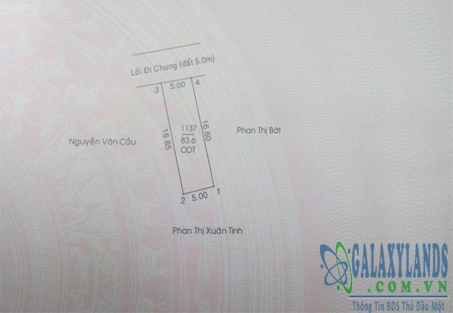 Bán đất phường Phú Hòa đối diện biệt thự Anh Thư.