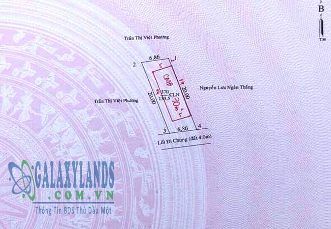 Bán đất hẻm 288 phường Phú Lợi