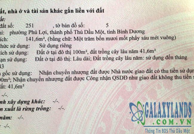Bán đất hẻm 322 Huỳnh Văn Lũy phú lợi