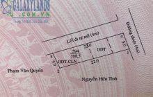 Bán đất Phú Hòa đường nhựa, DT 5x22m, lô góc hai mặt tiền.