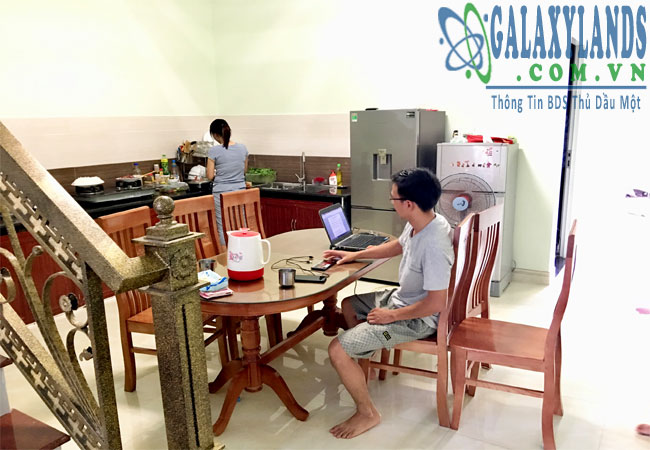 Nhà bếp nhà phố hẻm 269 Nguyễn Thị Minh Khai, phường Phú Hòa