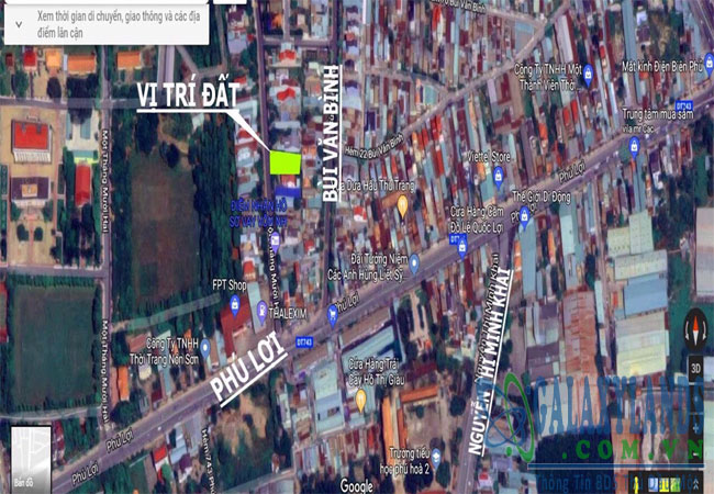 Bán đất đường 1 tháng 12 Phú Lợi