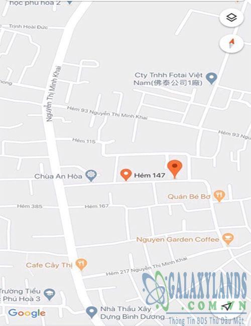 Bán đất 5x22m hẻm 147 Nguyễn Thị Minh Khai Phú Hòa Bình Dương