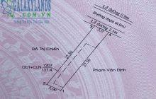Bán đất 5×27.5m hẻm 41 Trần Văn Ơn phường Phú Hòa.