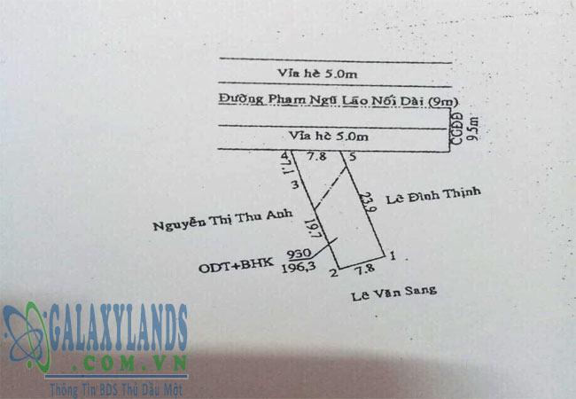 Bán đất Phú Lợi Thủ Dầu Một