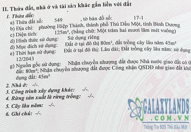 Bán đất Nguyễn Văn Trỗi, phường Hiệp Thành, Tp. Thủ Dầu Một, Bình Dương