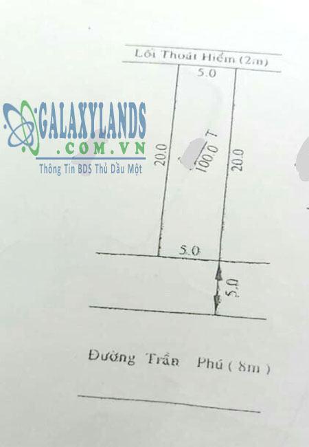 Bán đất đường Trần Phú khu dân cư Chánh Nghĩa, Thủ Dầu Một, Bình Dương