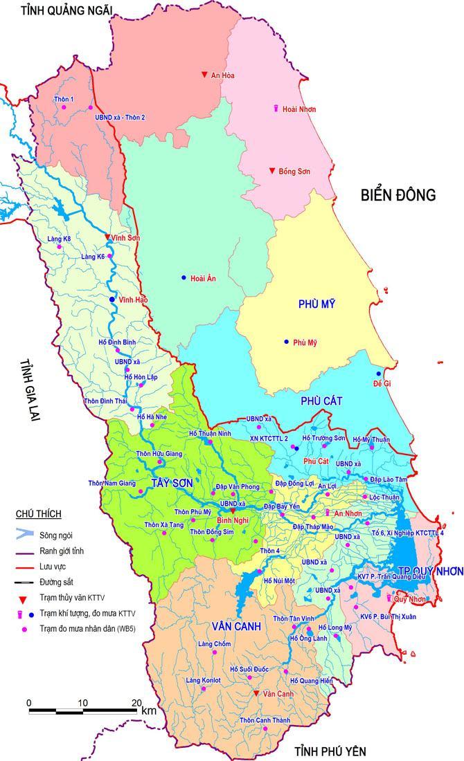 Bản đồ tỉnh Bình Định