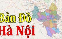 Bản đồ các quận Hà Nội, bản đồ Hà Nội kích thước Full HD