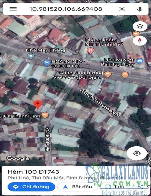 Bán đất mặt tiền đường Phú Lợi Thủ Dầu Một