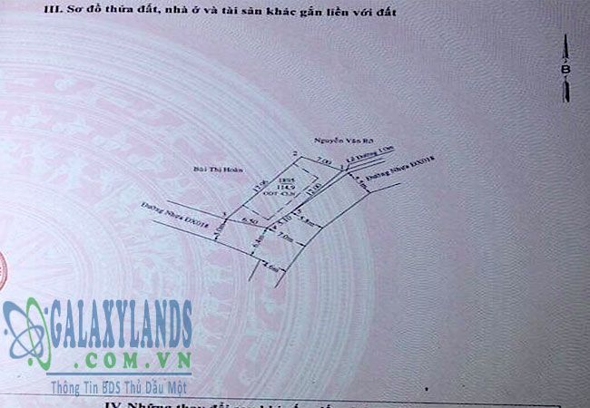 Bán đất mặt tiền đường DX18 Thủ Dầu Một