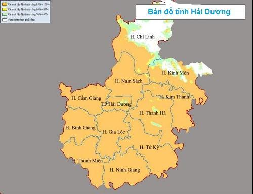 Bản đồ tỉnh Hải Dương Việt Nam