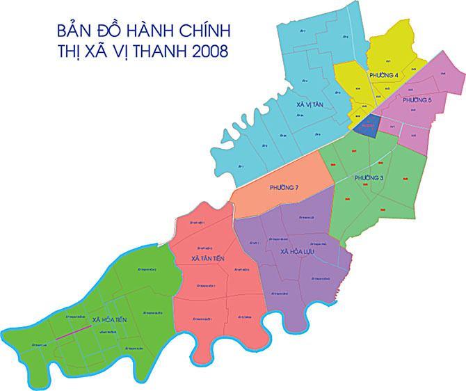 Bản đồ thành phố Vị Thanh Hậu Giang