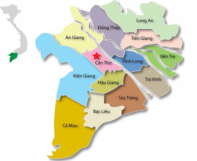 Bản đồ tỉnh Hậu Giang
