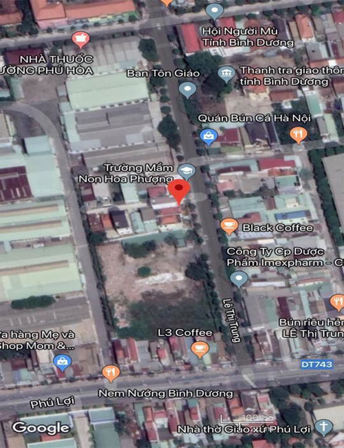 Bán đất đường Lê Thị Trung Thủ Dầu Một