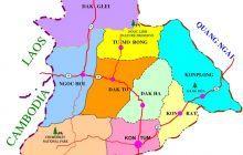 Bản đồ tỉnh Kon Tum | Bản đồ hành chính tỉnh Kon Tum