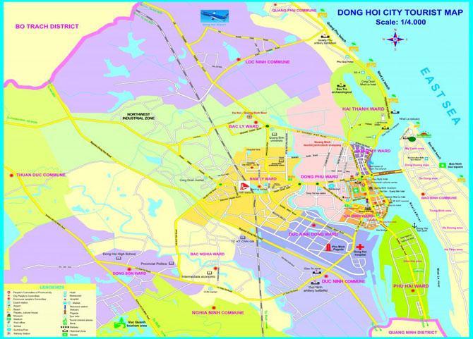 Bản đồ du lịch Đồng Hới Quảng Bình