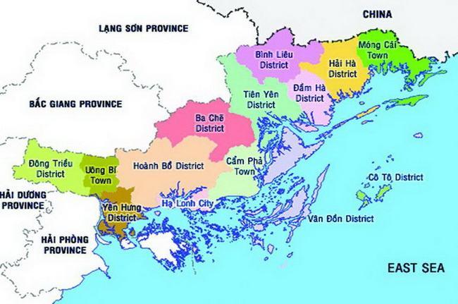 Bản đồ Quảng Ninh