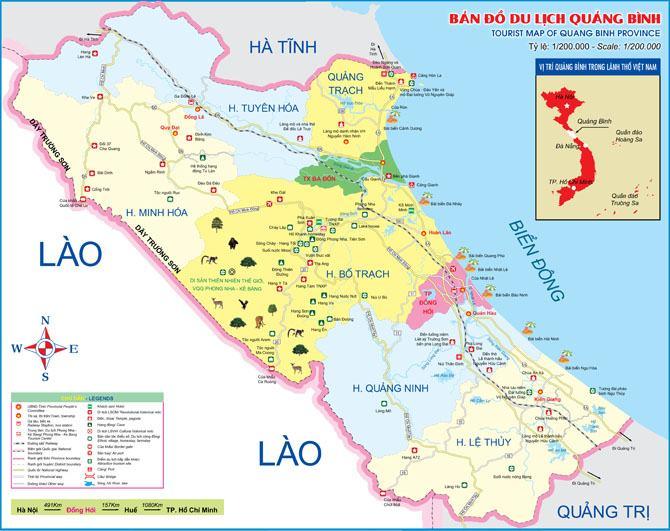 Bản đồ du lịch tỉnh Quảng Bình