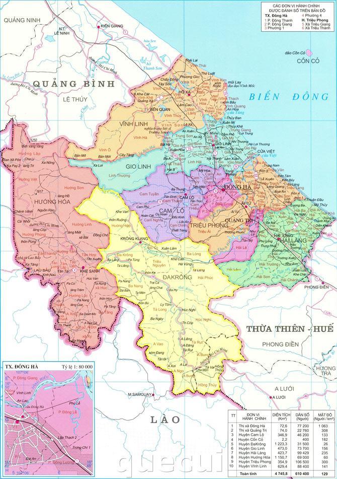 Bản đồ tỉnh Quảng Trị
