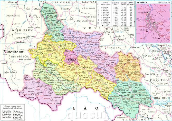 Bản đồ tỉnh Sơn La