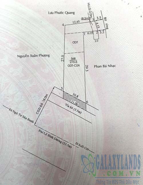 Bán đất đường quốc lộ 13 phường Phú Hòa, Thủ Dầu Một, Bình Dương