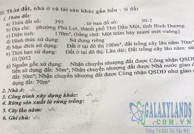 Bán đất mặt tiền đường Lê Hồng Phong Phú Lợi