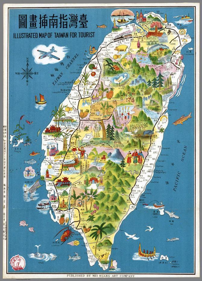 Bản đồ du lịch Đài Loan
