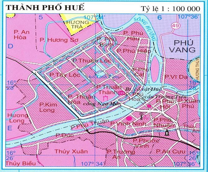 Bản đồ thành phố Huế