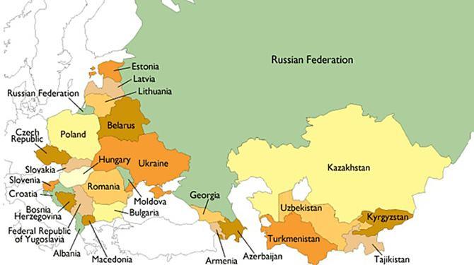 Bản đồ nước Liên Bang Nga