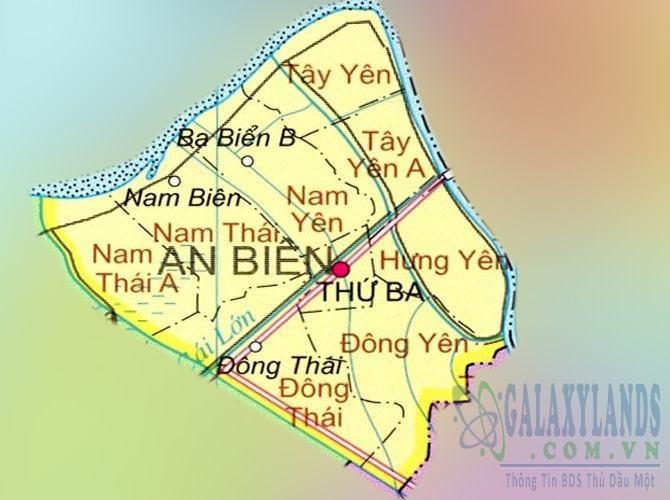 Bản đồ huyện An Biên tỉnh Kiên Giang