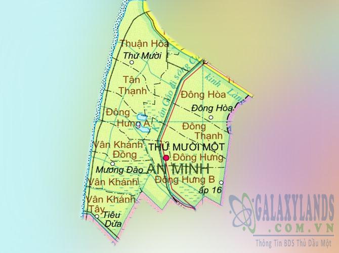 Bản đồ huyện An Minh tỉnh Kiên Giang