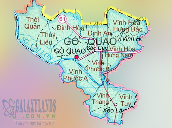 Bản đồ huyện Gò Quao tỉnh Kiên Giang