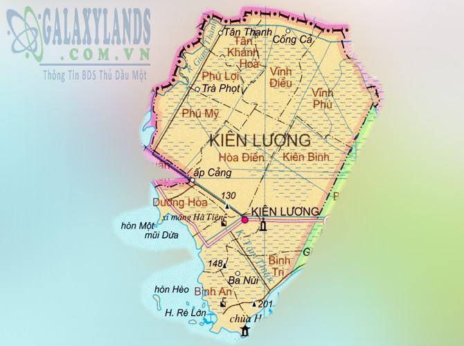 Bản đồ huyện Kiên Lương tỉnh Kiên Giang