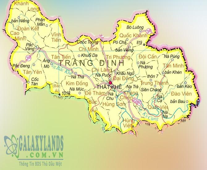 Bản đồ huyện Tràng Định tỉnh Lạng Sơn